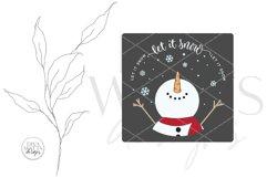 Let It Snow SVG | Christmas Snowman Design Product Image 3