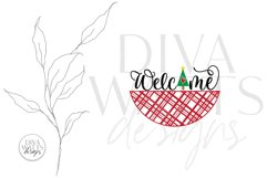 Welcome with Christmas Tree and Plaid SVG | Winter Door Hang Product Image 2
