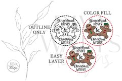 Gingerbread Kisses & Christmas Wishes SVG | Winter Design Product Image 5