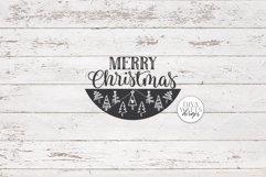 Merry Christmas SVG   Tree Pattern Door Hanger Design Product Image 2