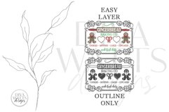 Gingerbread Baking Co SVG | Christmas / Winter Design Product Image 2