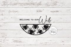Welcome To Our Web   Halloween Spider Round Sign Design Product Image 2
