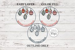 Merry Christmas Vintage Ornaments SVG | Round Sign Design Product Image 4