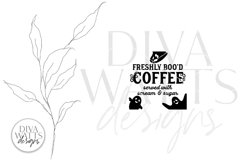 Freshly Boo'd Coffee SVG | Halloween Ghost SVG Product Image 2
