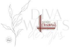Merry Christmas Plaid SVG   Farmhouse Round Design Product Image 2
