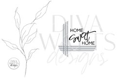 Home Sweet Home SVG   Round Farmhouse Plaid Design Product Image 2