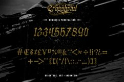 Crosshead - Blackletter Tattoo Font Product Image 5