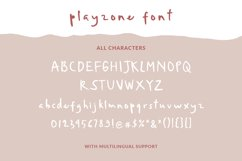 Playzone - Handwritten Doodle Font Product Image 4