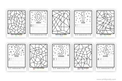 Color and learn the numbers | printable activity for kids. Product Image 4