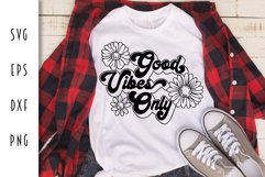 Good Vibes Only Retro Design Product Image 1