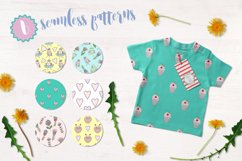Cute birds, flowers, frames and lettering Product Image 4