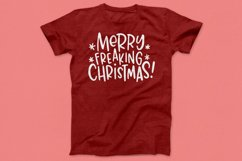 Rude Freaking Holiday Greetings - Christmas and Winter SVGs Product Image 3