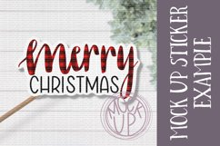 Merry Christmas PNG File / Sublimation Clipart File Product Image 2