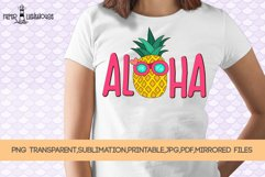 Aloha Pineapple - Summer sublimation, clipart, printable Product Image 1