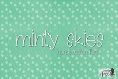 Minty Skies- a skinny font Product Image 1