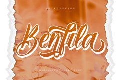 Benfila | Handwritten Script Font Product Image 1
