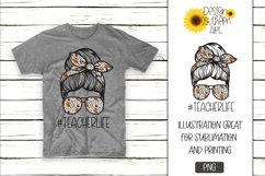 Sublimation Designs for Tshirts Teacher Life Product Image 1