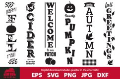Fall / Autumn porch sign bundle - SVG, EPS, JPG, PNG, DXF Product Image 1