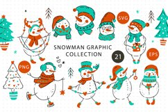 Snowman Christmas Graphic Pack. Product Image 1
