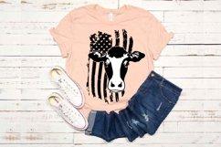 Cow USA Flag SVG cowboy 4th July Farm 1672 Product Image 1