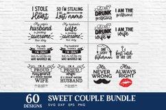 Sweet couple svg bundle - couple matching shirts svg dxf eps Product Image 4