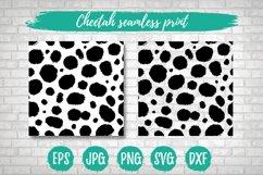 Cheetah Leopard SVG Print, Seamless Vector Animal Pattern Product Image 1