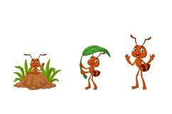 Set of Six Cartoon Brown Ant Animal Product Image 3
