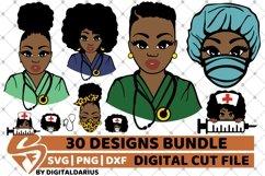 30x Amazing Nurse Bundle svg, Healthcare svg, Black History Product Image 4