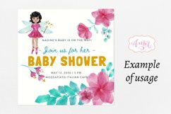 Watercolor fairy clipart for invitations, magical clipart Product Image 2