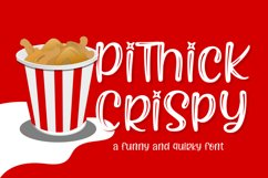 Pithick Crispy | a funny and quirky font Product Image 1