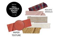 Fall Inspired Digital Washi Tape Product Image 1
