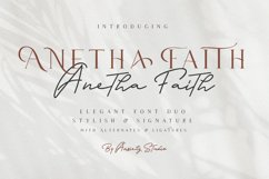 Anetha Faith Font Duo - Extras Logo Template Product Image 1