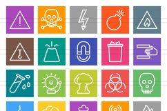 50 Warning & Caution Line Multicolor B/G Icons Product Image 2