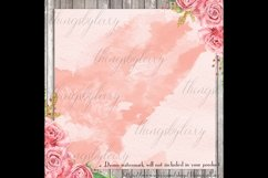 30 Ombre Sapphire & Flamingo Watercolor Digital Papers Product Image 3