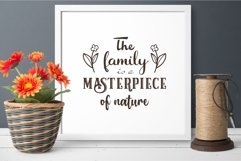 The family is a masterpiece of nature svg Family Quote Product Image 3