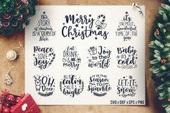 Christmas Sayings SVG Bundle - Christmas Quotes SVG - DXF Product Image 1
