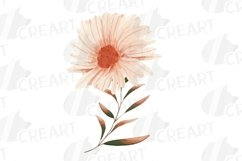 Fall leaves and flowers decor. Watercolor autumn wreath png Product Image 6
