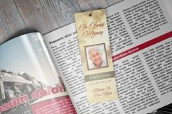 Forever Funeral Bookmark Template Product Image 2