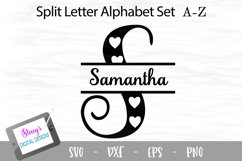 Split Letters A-Z - 26 split monogram files - Hearts Product Image 1