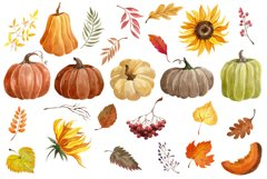 Watercolor Autumn clipart Product Image 2