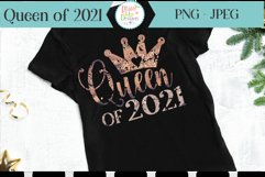 Queen of 2021 Sublimation New Year Sublimation Printable Product Image 1