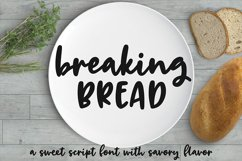 Breaking Bread - a chunky script font! Product Image 8