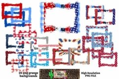 Patriotic July 4th Grunge Frames for Dye Sublimation Product Image 1