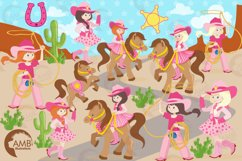 Cowgirl clipart, graphics, illustrations AMB-159 Product Image 5