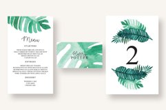 Tropical Leaves Invitation Suite Product Image 2