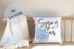 SPRING Sublimation Hydrangea Watercolor Product Image 1