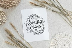Spring vibes flower wreath SVG, Cutting file, Decal Product Image 2
