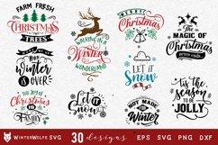 Christmas Bundle 30 designs SVG EPS DXF PNG Product Image 4