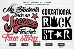 Teacher Life Bundle - Funny Teacher Quotes SVG Files Product Image 4