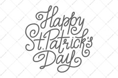 St. Patrick Day Lettering | SVG Cut File Product Image 2